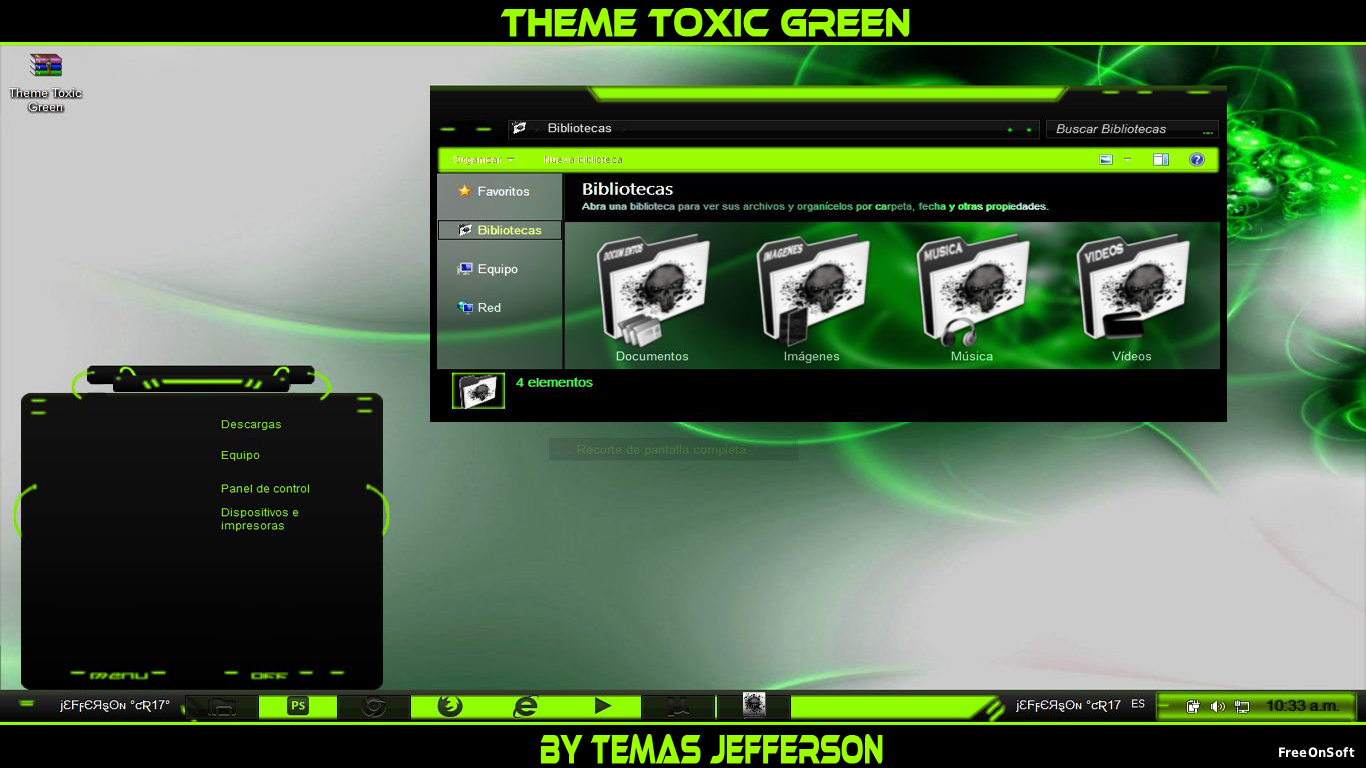 New theme toxic